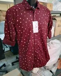 Cotton Slim Fit Mens Casual Shirt Republic Brand