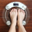 Weight Machine 8mm or 6mm Thick Round Transparent Glass Weighing Scale