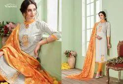 Teesha Vol 6-Vishnu Impex Stylish Banarasi Dupatta Cotton Ladies Salwar Kameez