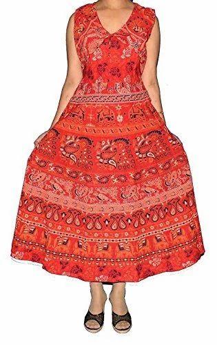 ba90283dad5 Cotton Traditional And Stylish Jaipuri Printed Koti Dress