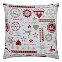 Multicolor 100% Cotton Cushion With Printed Designs, Size: 40 X 40 Cm
