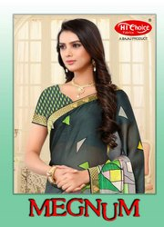 Magnum Catalog Saree, 6.3 M (with Blouse Piece)