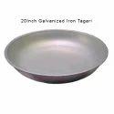 Galvanized Iron Silver Color Round Tagari, Size: 20 Inch