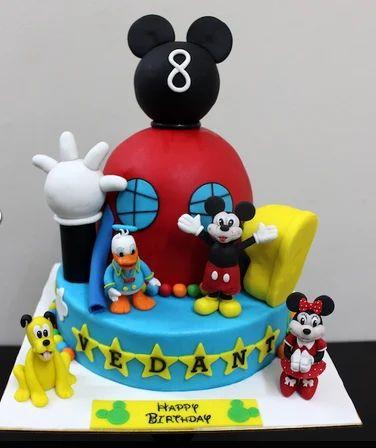 Pleasant Mickey Minnie Cake Disney Minnie Mouse Car Shaped Cake Bakery Funny Birthday Cards Online Alyptdamsfinfo