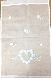 Embroidered Cotton, Silk White Curtain