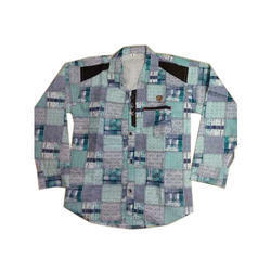 Printed Cotton Boys Casual Shirt