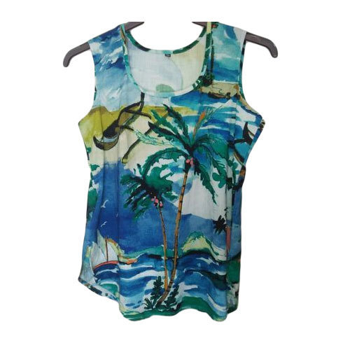 Printed Sleeveless Girls Summer Top