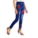 5 Star Rose Design Jeans Leggings