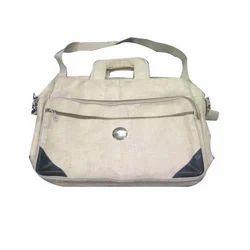 Plain Jute Cotton Laptop Bag