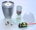 Ceramic Led Bulb Housing (core Aluminium Body), Shape: Round