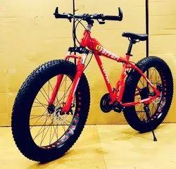 21 Gear Red Fat Bike