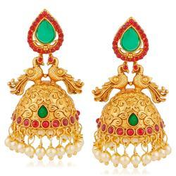 fce3ae57a Ankur Dazzling Peacock Design Gold Plated Earring For Women