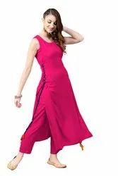 Stylish Ladies Rayon Kurta, Size: S,M,L,XL,XXL