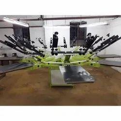 8 Station Carousel Garment Printing Machine