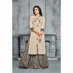 Cotton Ladies Palazzo Suit, Machine wash