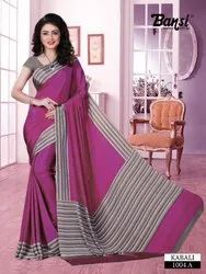 Printed Formal Office Uniform Saree