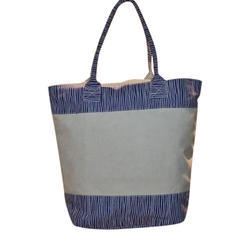 82c30db73 Gray And Blue Fever India Canvas Tote Bag, Size: Standard