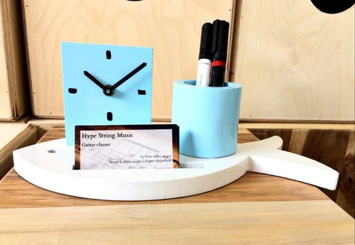 Clock And Visiting Card Holder