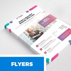 Flyers Designing Printed Service