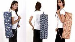Cotton Block Printed Yoga Bag/Mat
