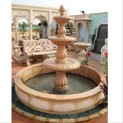 Red Stone Water Fountain