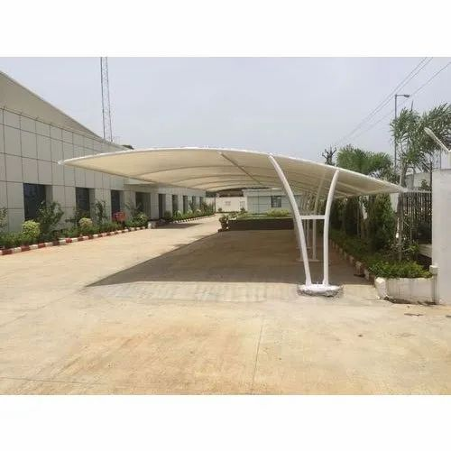 Tunnel Modern Car Parking Shed For Commercial Paint Coated Rs 320 Square Feet Id 19058012512