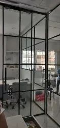 Classy Grid Office Glass Partition