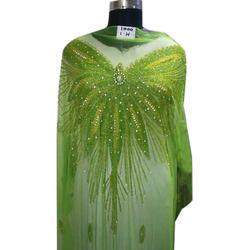 ea2b2830e08cdb Unstitched Net Light Green Beaded Lace Blouse, Size: 1.5 Meter, Rs ...