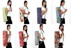 Cotton Kantha Yoga Bag / Mat