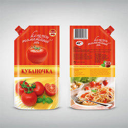 Tomato Ketchup Packing Pouch