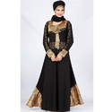 Designer Black Lycra Abaya