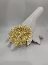 Women Golden Ring, Size: Big, 55
