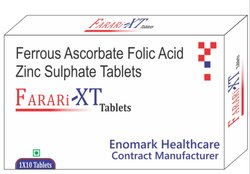 Ferrous Ascorbate Folic Acid And Zinc Tablets