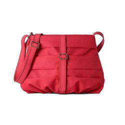 Pink Rexine Ladies Side Bag