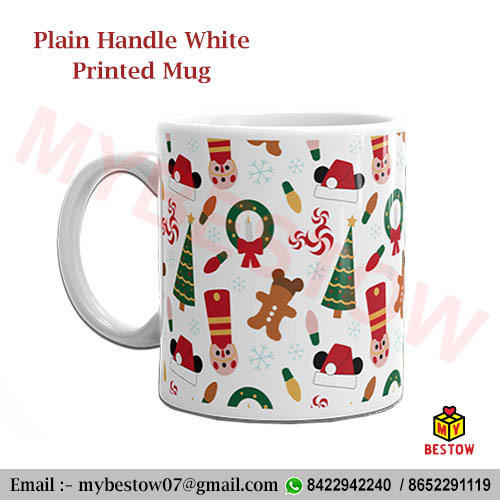 Ceramic Multicolor Plain Photo Mug, For Home