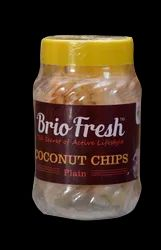 Briofresh Basic Indian Coconut Chips, Packaging Size: 50gm To 1kg, Packaging Type: Jar and Standup Pouch