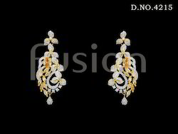 Cubic Zircon Hanging Earrings