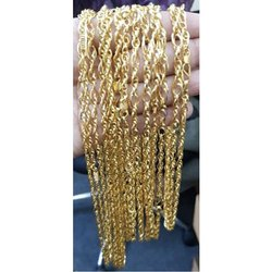 23 Carat Mens Fancy Gold Chain, Packaging Type: Box