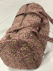 Silk Saree Quilted Duffel Bag