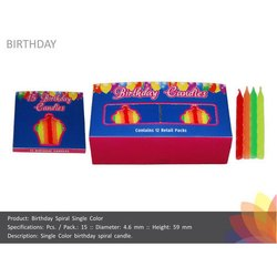 Single Color Twisted Birthday Candle
