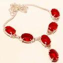 Red Gemstone Necklace