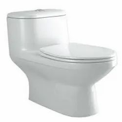 Closed Front White Western Toilet Seat