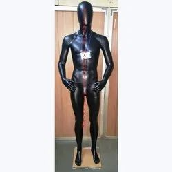 Glossy Black Male Mannequin
