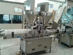 Double Head Dry Syrup Powder Filling Machine