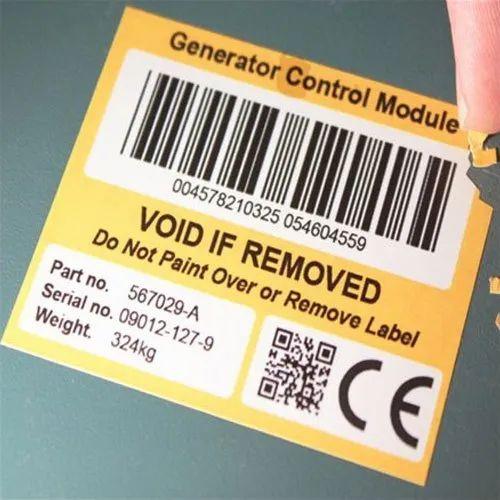 Pvc Destructive Printed Tamper Evident Safety Labels