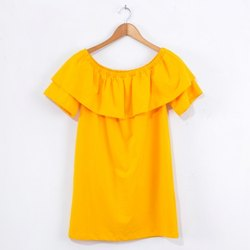Plain Half Sleeves Women Off Sholder Top