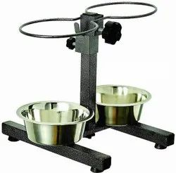 Adjustable Double Dinner Dog Stand Bowl, for Home Purpose
