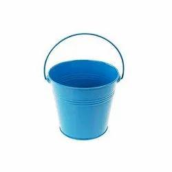 Metal Bucket Planter Round