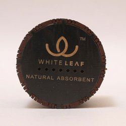 Coconut Shell (Body Material) Whiteleaf Cylindrical Car Air Purifier, Packaging Type: Box
