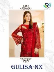 Unstitched R9 Gulisa Nx Pakistani Style Georgette Suit